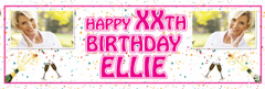 Personalised birthday banners for 18th birthday