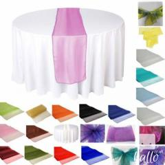 30 X 275Cm Organza Table Runners Thin Sheer Fabr