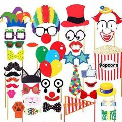 Photo Booth Props For Circus Theme Party  36Pcs