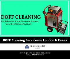 Brickwork & stone cleaning using DOFF cleaning System