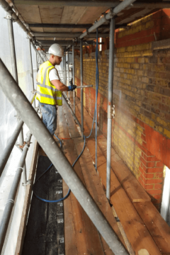 Brick wall cleaning services in Essex