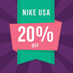 Get 10 x 20 Nike USA Discount Codes Now At Just 99.9
