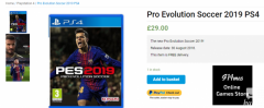 Buy the Latest Pro Evolution Soccer 2019 PS4 at 29.00