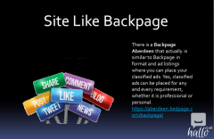 Backpage Aberdeen Sites like backpage.