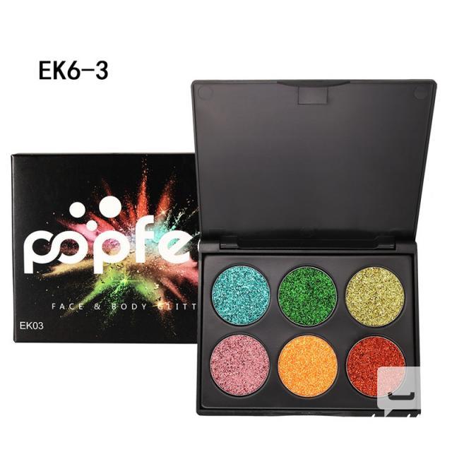 POPFEEL Glitter Eyeshadow Palette 6 Colors Popfeel 7 Image