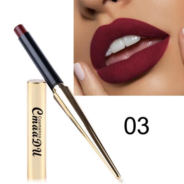 CmaaDu Gold Tube Matte Lipstick 12 Colors MatteLipstick 5 Image