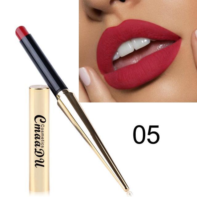 CmaaDu Gold Tube Matte Lipstick 12 Colors MatteLipstick 7 Image