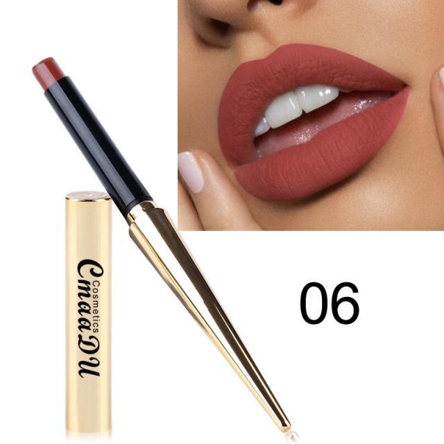 CmaaDu Gold Tube Matte Lipstick 12 Colors MatteLipstick 8 Image