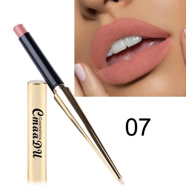 CmaaDu Gold Tube Matte Lipstick 12 Colors MatteLipstick 9 Image