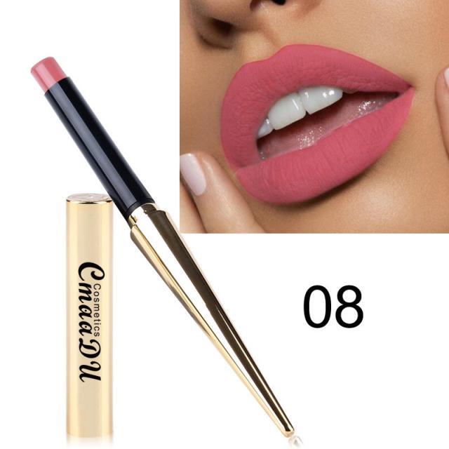 CmaaDu Gold Tube Matte Lipstick 12 Colors MatteLipstick 10 Image