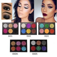 Popfeel Glitter Eyeshadow Palette 6 Colors Popfe