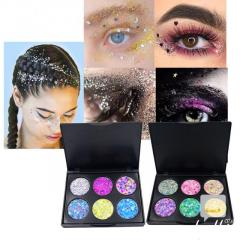 New Popfeel Glitter Eyeshadow Palette 6 Colors P