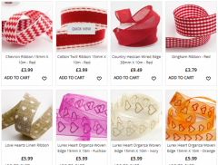Valentines Day Gift Wrapping Ribbons - Ashprint London