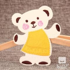 Baby Bear Embroidered Patches