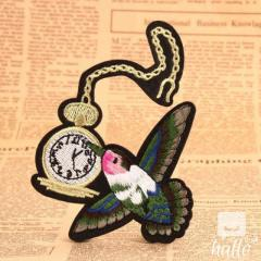 Flying Bird Embroidered Patches