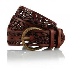 Hand Stitched Leather Belt for Men