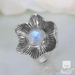 Moonstone Ring Blossom Bliss