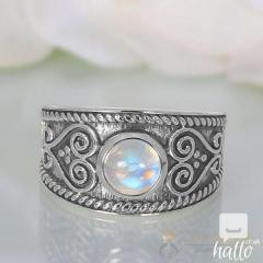 Moonstone Ring Mystic Moon