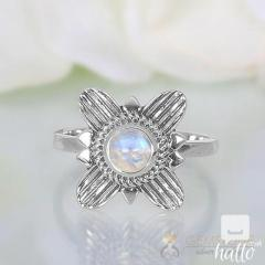Moonstone Ring Floral Euphoria