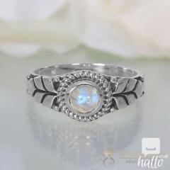 Moonstone Ring Glittering Petals