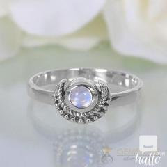 Moonstone Ring Artistic Crescent