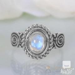 Moonstone Ring Rounded Flair