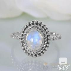 Moonstone Ring Lunar Spark