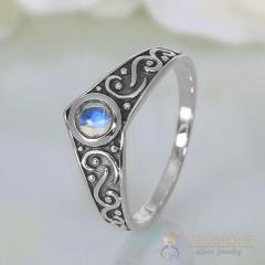 Moonstone Ring Gothic Affair-GSJ