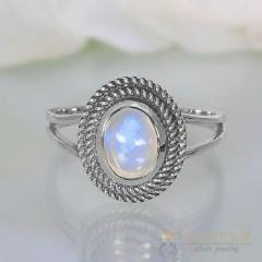 Moonstone Ring Light Burst-GSJ