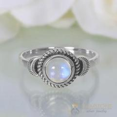 Moonstone Ring Crescent Dream-GSJ