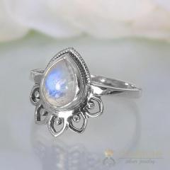 Moonstone Ring Sky'S Energy-GSJ