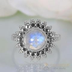 Moonstone Ring Titan Star-GSJ