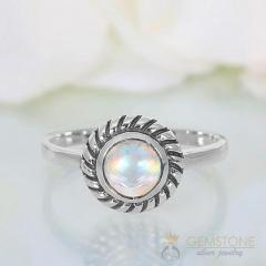 Moonstone Ring Courageous Tides-GSJ