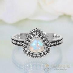 Moonstone Ring Triple Grandeur-GSJ