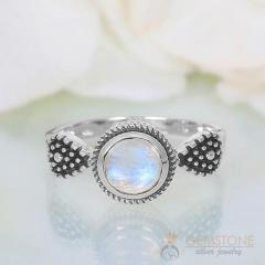 Moonstone Ring Specks Of Fortune-GSJ
