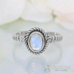 Moonstone Ring Baroque Nook-GSJ