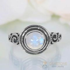 Moonstone Ring Angelic Vault-GSJ
