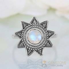 Moonstone Ring Edwardian Stardust-GSJ