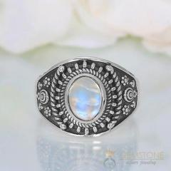 Moonstone Ring Luna Daze-GSJ
