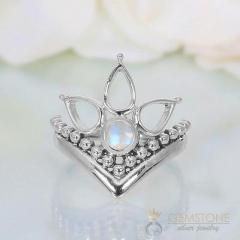 Moonstone Ring Bella's Swan-GSJ