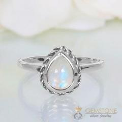 Moonstone Ring Purity Drop-GSJ