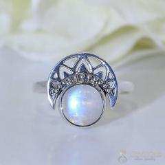 Moonstone Ring Night Mermaid-GSJ