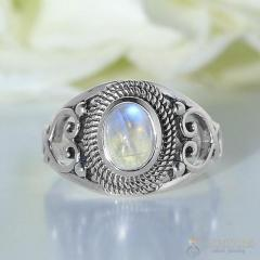Moonstone Ring Glitzy Allegra-GSJ