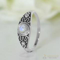 Moonstone Ring Fiery Trance-GSJ