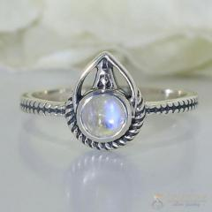 Moonstone Ring Exotic Mirth-GSJ