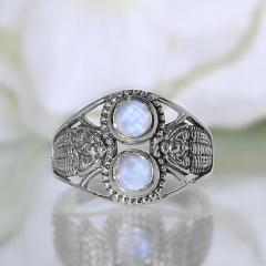 Moonstone Ring Double Elegance-GSJ