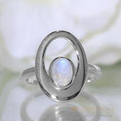 Moonstone Ring Flamboyant Orbit-GSJ