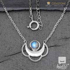 Moonstone Necklace - Moon Clouds