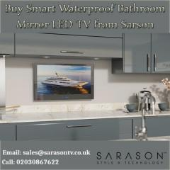 Buy Smart Waterproof Bathroom Mirror LED TV from Sarson