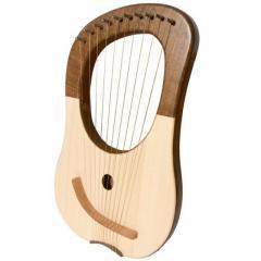 10 String Lyre Harp  Walnut